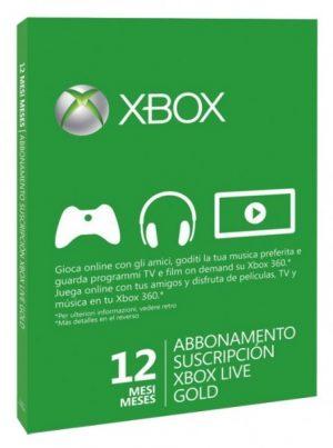12 Meses Gold Tarjeta Prepago Xbox Live