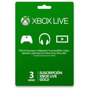 3 Meses Gold Tarjeta Prepago Xbox Live