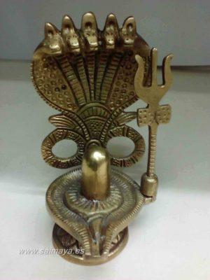 Shiva Lingam con Trishul y Nagas