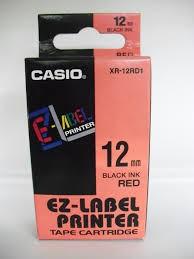 Casio EZ-Label Printer Tape Cartridge XR-12RD1