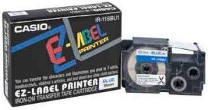 Casio EZ-Label Printer Tape Cartridge IR-118BU1