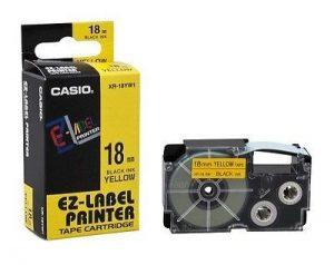 Casio EZ-Label Printer Tape Cartridge XR-18YW1