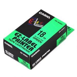 Casio EZ-Label Printer Tape Cartridge XR-18GN1