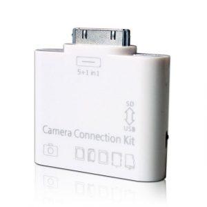 Lector de Tarjetas SD, Micro SD y Pendrive USB para iPhone 4