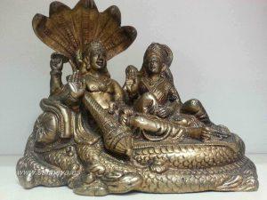 Vishnu y Laxmi sobre Sheshanaga