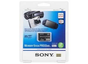2GB Sony Memory Stick Pro Duo