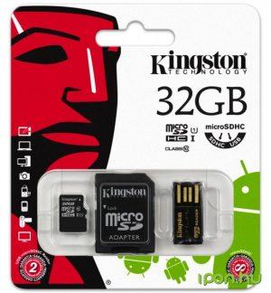 32GB Kingston Micro SD + USB