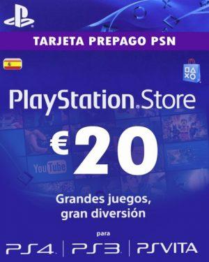 Tarjeta de Recarga 20€ Playstation Network