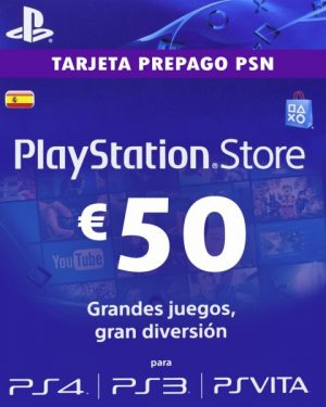 Tarjeta de Recarga 50€ Playstation Network