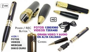 Bolígrafo con videocámara
