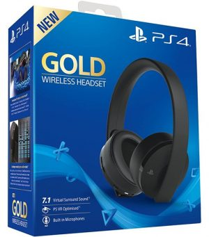 Headset Oficial Sony Gold Wireless 7.1 Surround