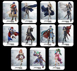 Set de 25 Cartas de Personajes de Fire Emblem Warriors