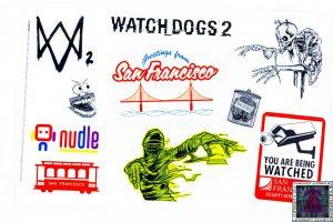 10 Pegatinas Watch Dogs 2
