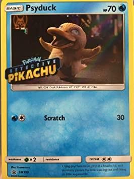 Carta Promocional Pokemon Psyduck Detective Pikachu