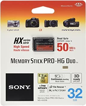 32GB Sony Memory Stick Pro Duo